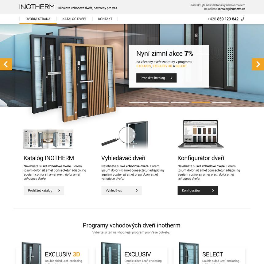 Webové stránky pro společnost Inotherm