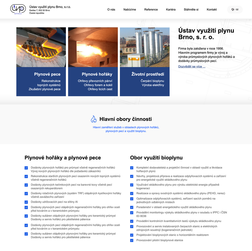 Tvorba webových stránek UVP